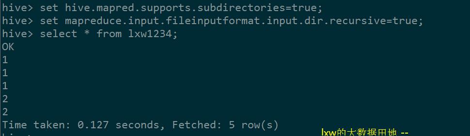 MapReduce和Hive支持递归子目录作为输入– lxw的大数据田地